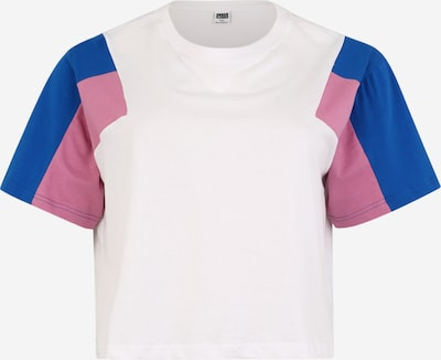 Urban Classics Curvy Shirt in de kleur Blauw / Rosa / Wit, Productweergave