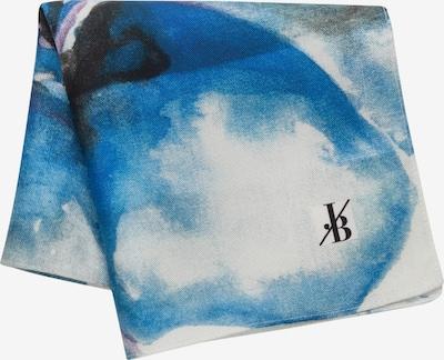 Jacques Britt Einstecktuch 'Custom Fit' in blau / schwarz / weiß, Produktansicht