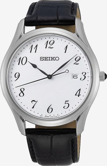 SEIKO Uhr in schwarz / silber / weiß, Produktansicht