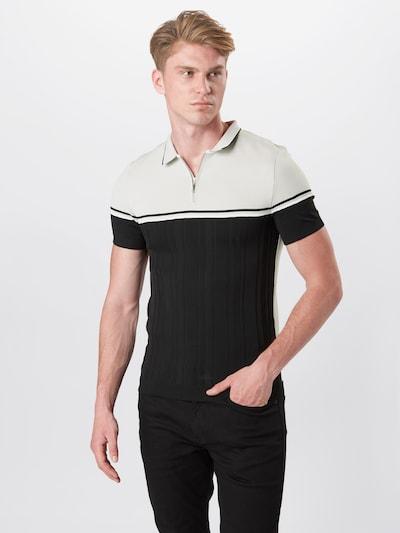 River Island T-Shirt en noir / blanc: Vue de face
