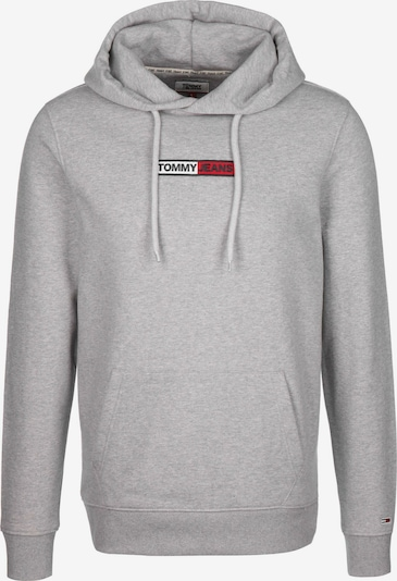 Tommy Jeans Hoodie ' Embroidered Box ' in grau, Produktansicht