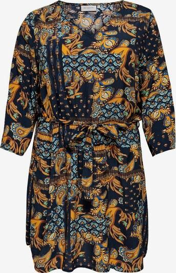 ONLY Carmakoma Robe en safran / noir, Vue avec produit