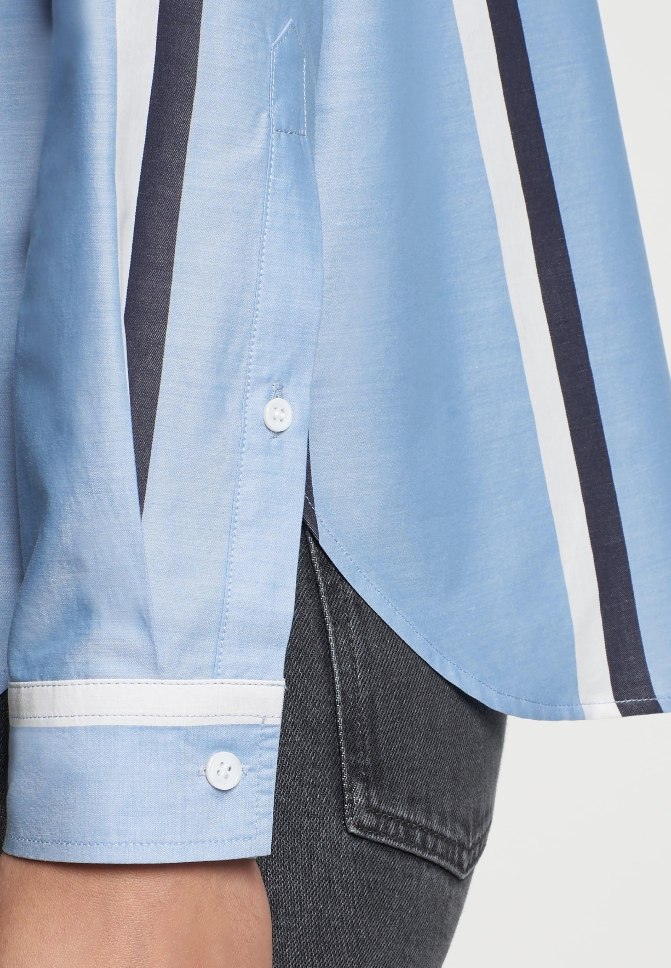 Seidensticker Bluse Weiß MarineHellblau In Rose' 'schwarze WEIH9D2
