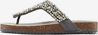 Flip-flops LASCANA pe gri metalic, Vizualizare produs
