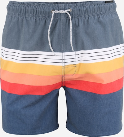RIP CURL Badeshorts 'VOLLEY' in navy / orange / hellrot, Produktansicht