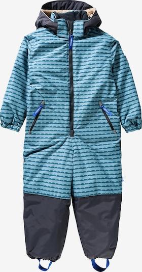 FINKID Overall 'Turva' in blau / hellblau / dunkelgrau, Produktansicht