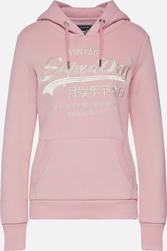 Superdry Mikina 'PREMIUM GOODS LUXE EMB ENTRY HOOD' - pink, Produkt