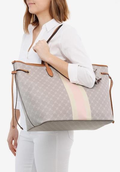 JOOP! Shopper 'Cortina Due Lara' in grau / rosa / weiß: Frontalansicht