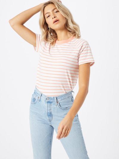 JAN 'N JUNE Koszulka 'QUITO' w kolorze brzoskwiniowy / łososiowym, Podgląd na modelu(-ce)