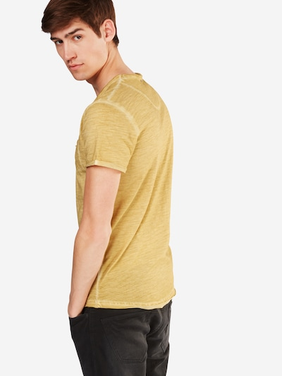 Key Largo T-Shirt 'Soda' mit V-Ausschnitt in gelb: Rückansicht