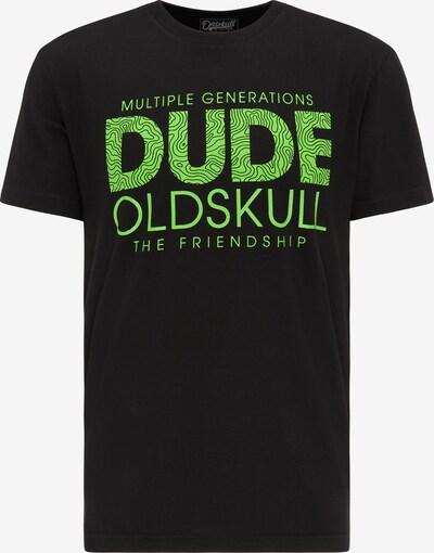 Oldskull T-shirt in kiwi / schwarz, Produktansicht