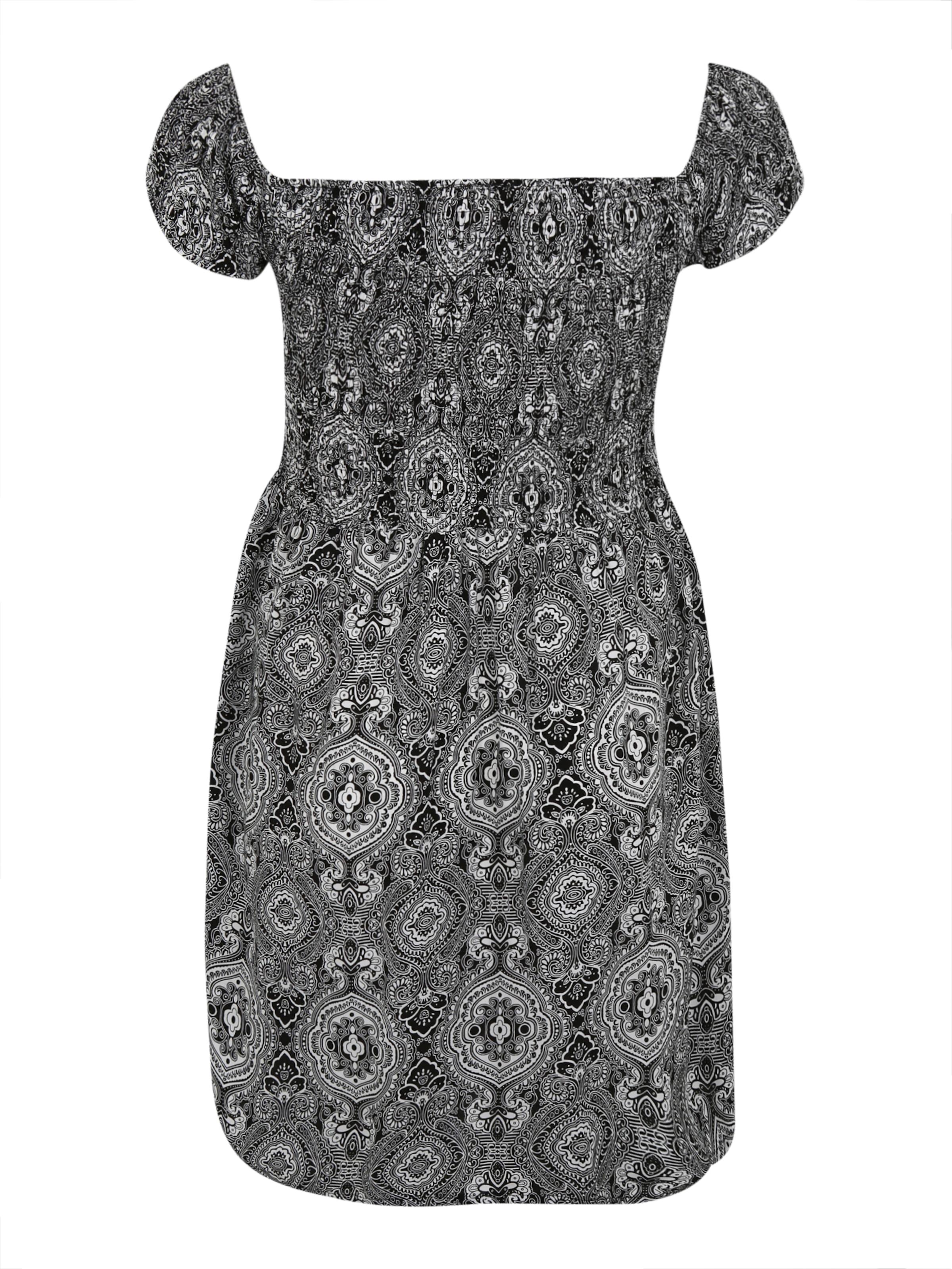 Curvy NoirBlanc Urban En Robe Classics 'smoked' fI7gybY6v