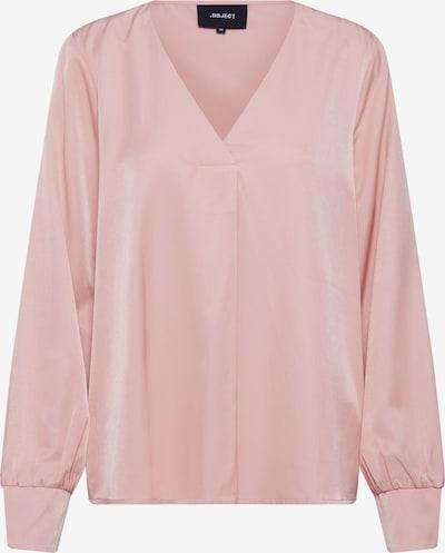 OBJECT Bluza 'OBJEILEEN L/S V-NECK TOP NOOS' | roza barva: Frontalni pogled