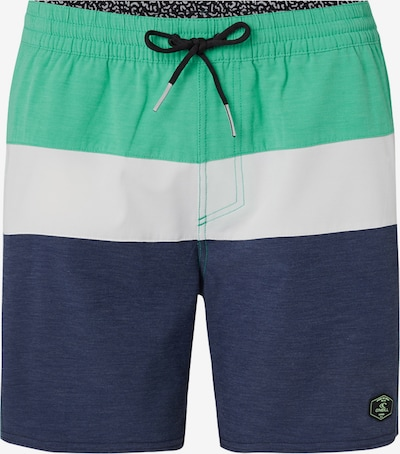 O'NEILL Boardshorts 'PM SUNSET SHORTS' in de kleur Donkerblauw / Groen / Wit, Productweergave
