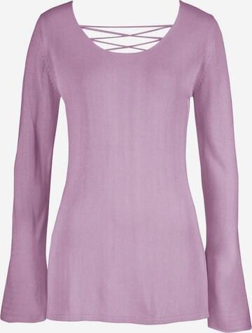 LASCANA Sweater in Purple
