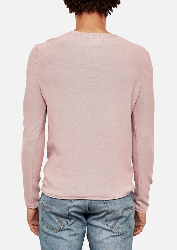 Q / S Designed By Finely Knit Sweater With Washing Effect