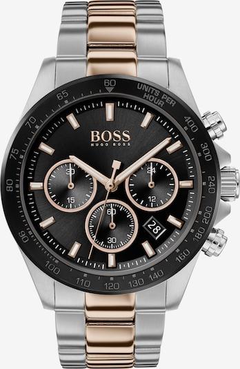 BOSS Casual Uhr in gold / schwarz / silber, Produktansicht