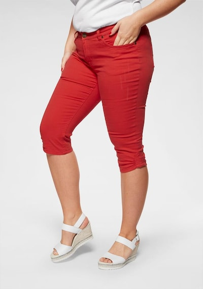 ARIZONA Caprijeans in rot, Modelansicht
