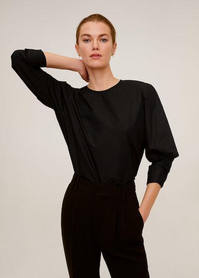 MANGO Bluse 'Iri-i' in schwarz, Modelansicht