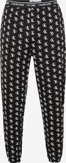 Calvin Klein Underwear Pantalon de pyjama en noir / blanc, Vue avec produit
