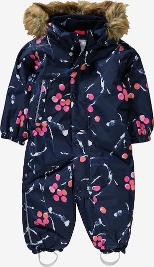 Reima Schneeanzug 'LOUNA' in kobaltblau / mischfarben / pink, Produktansicht