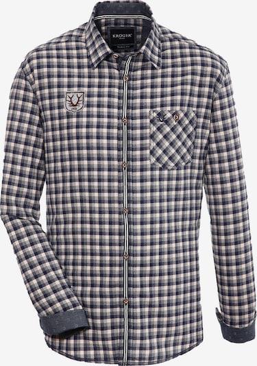 Krüger Buam Trachtenhemd in nachtblau / mischfarben, Produktansicht