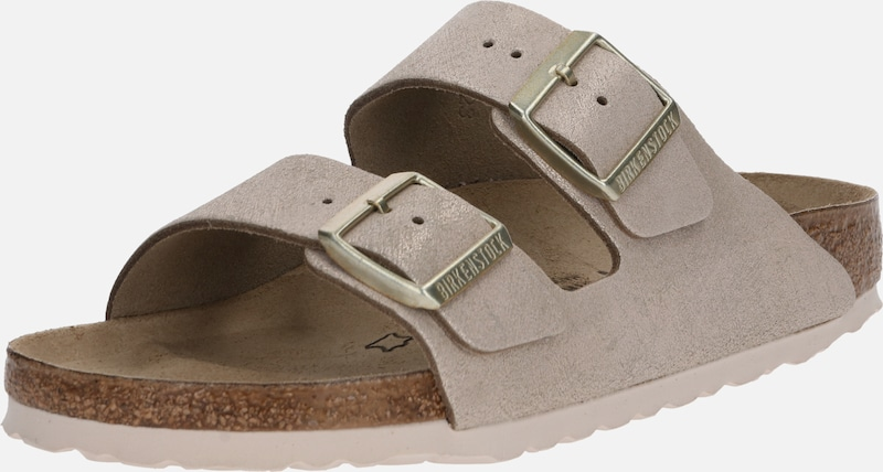 BIRKENSTOCK Pantolette 'Arizona Washed Metallic' in gold / rosé, Produktansicht