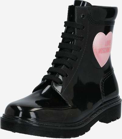 Love Moschino Stiefel 'RAIN LOVE' in rosa / schwarz, Produktansicht