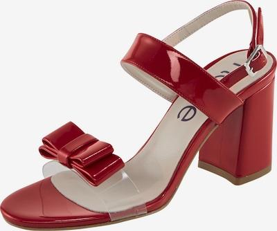 heine Sandalette in rot / transparent, Produktansicht