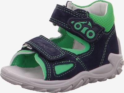 SUPERFIT Sandale 'Flow' in nachtblau / grün, Produktansicht