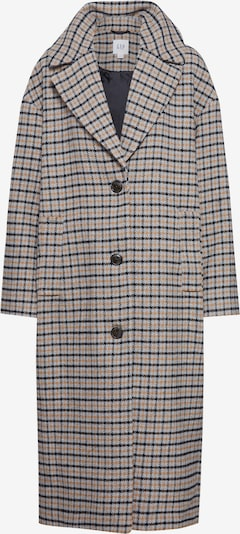 GAP Mantel 'OVSZ WOOL COAT - PLAID' in sand / schwarz, Produktansicht