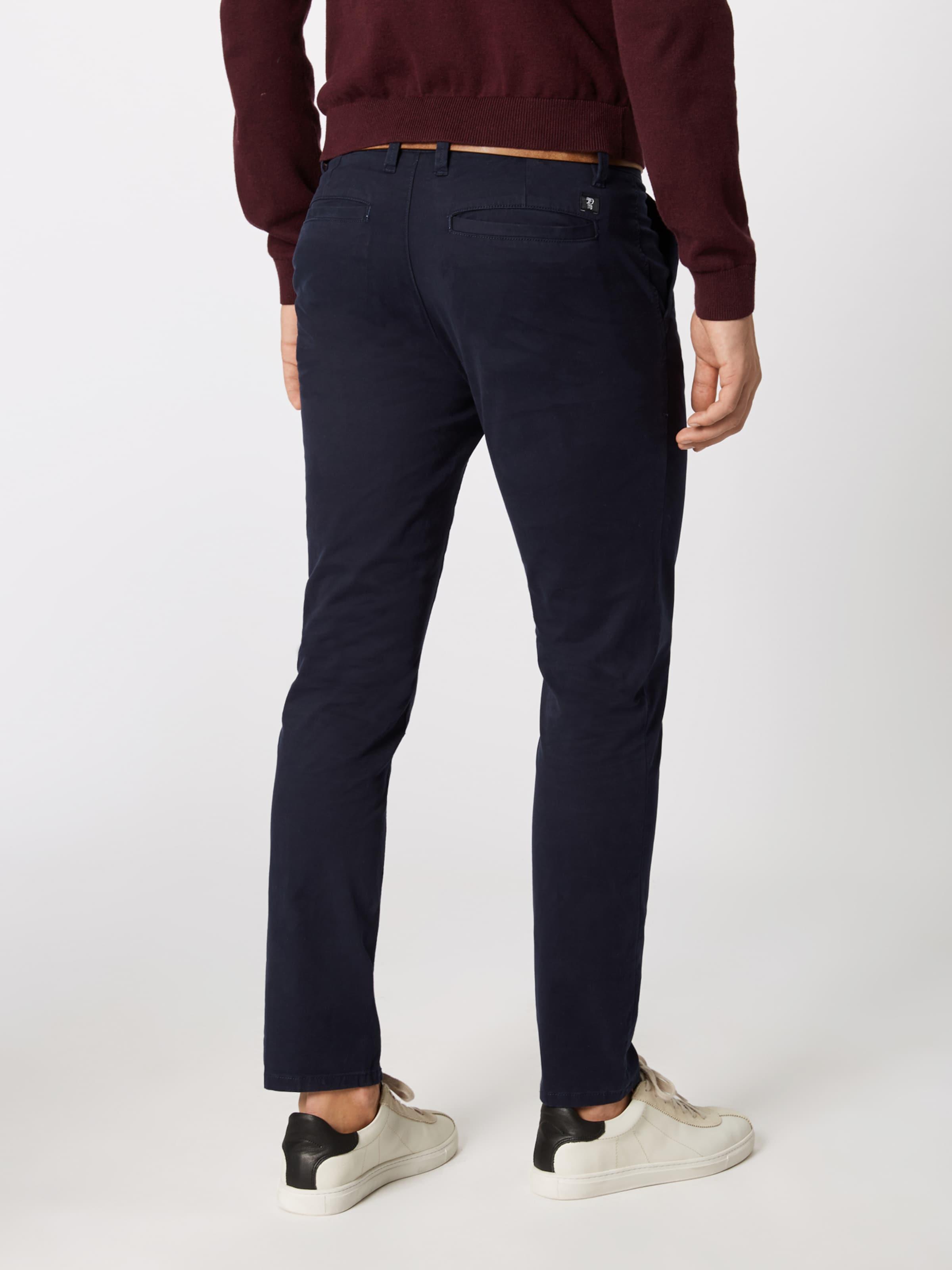 Bleu Foncé Denim Tom Tailor Pantalon Chino En sdthQrxBoC