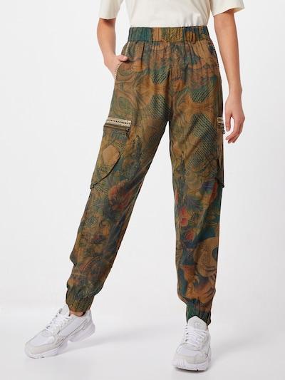 Desigual Harémové kalhoty 'PANT_CORFU' - tmavě zelená / mix barev, Model/ka