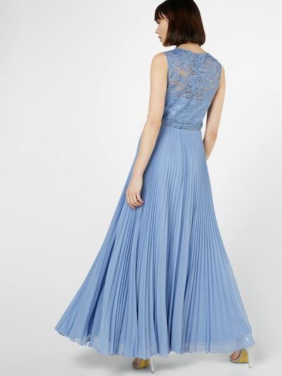 Laona Abendkleid mit Spitzentop in violettblau: Rückansicht