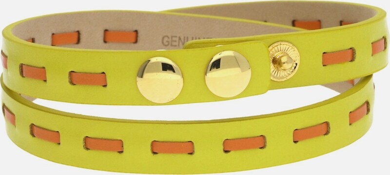 GUESS Wickelarmband Leder Gelb/Orange UBB21308