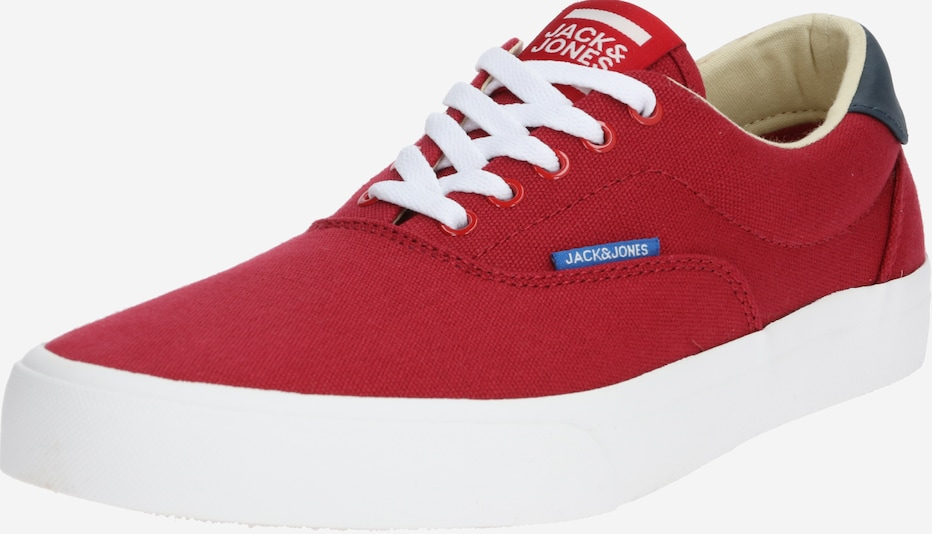 JACK & JONES Sneaker 'JFWMORK CANVAS' in rot / weiß, Produktansicht