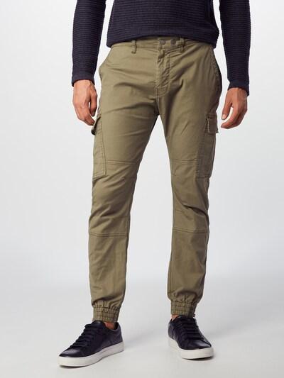 REPLAY Pantalon cargo en olive, Vue avec modèle