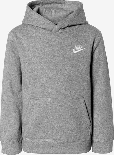 Nike Sportswear Sweatshirt 'Club' in graumeliert / weiß, Produktansicht