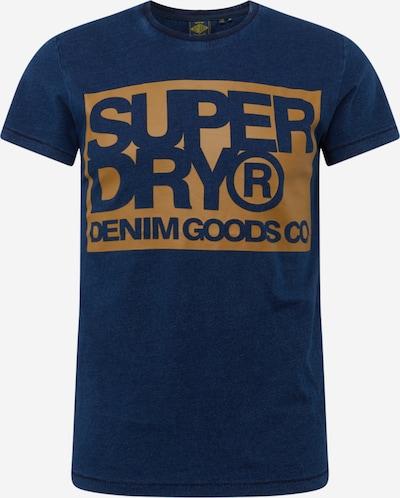 Superdry T-Shirt 'Goods Co' en bleu foncé / miel, Vue avec produit