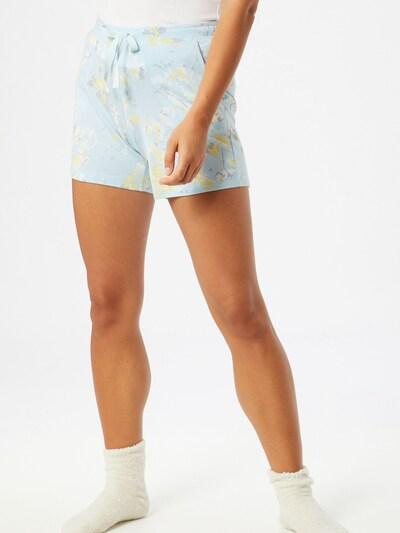 SCHIESSER Pyžamové kalhoty - světlemodrá / žlutá: Pohled zepředu