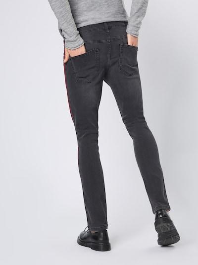 Džinsai 'LOOM SLIM TAPE BLACK PK 5415' iš Only & Sons , spalva - raudona / juodo džinso spalva: Vaizdas iš galinės pusės