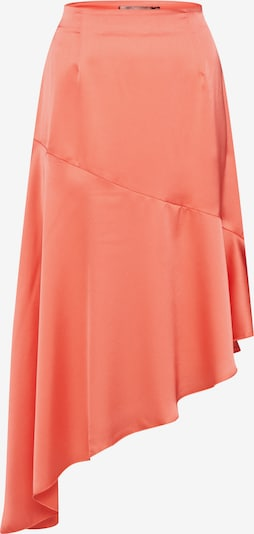 Missguided Rock 'Satin Asymmetric Skirt Coral' in orange: Frontalansicht