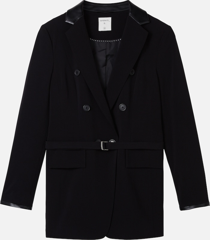 Sandwich Blazer in schwarz  Markenkleidung für Männer und Frauen