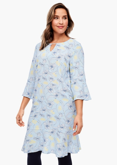 TRIANGLE Kleid in blau / gelb, Modelansicht