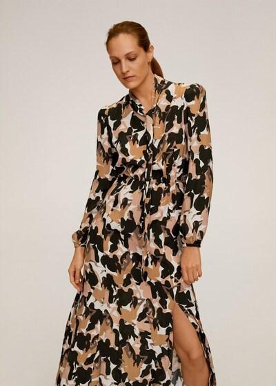 MANGO Kleid in karamell / schwarz, Modelansicht