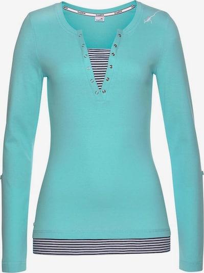 KangaROOS Shirt in marine / türkis / weiß, Produktansicht