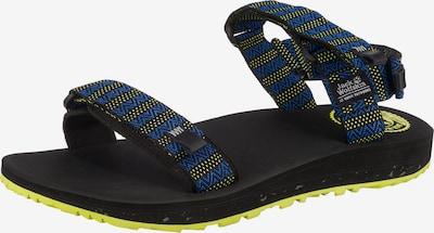 JACK WOLFSKIN Sandalen in blau / neongrün / schwarz, Produktansicht