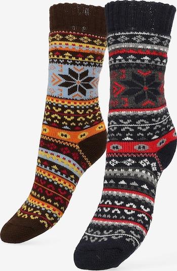 Libertad Socke 'Norway' in braun / mischfarben / schwarz, Produktansicht