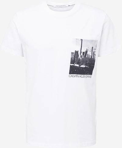 Calvin Klein Jeans T-Shirt en gris foncé / blanc, Vue avec produit