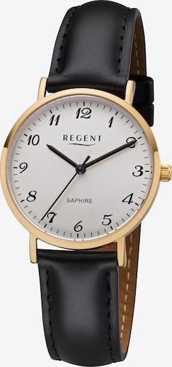 REGENT Uhr in gold / schwarz / weiß, Produktansicht